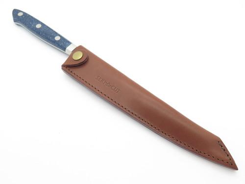 VINTAGE SEKI CUT 183 B SANETSU JAPAN SASHIMI FIXED BLADE KNIFE SUSHI KITCHEN CUTLERY