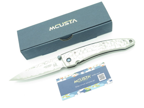 MCUSTA SEKI JAPAN TSUCHI MC-114D LARGE VG-10 DAMASCUS FOLDING POCKET KNIFE