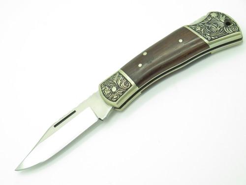 VTG PARKER SCROLL SEKI JAPAN 440 STAINLESS MEDIUM FOLDING LOCKBACK POCKET KNIFE