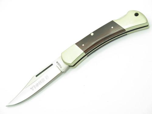 VTG TIGER 5 HANDMADE GERMAN 440 STAINLESS FOLDING HUNTER LOCKBACK POCKET KNIFE