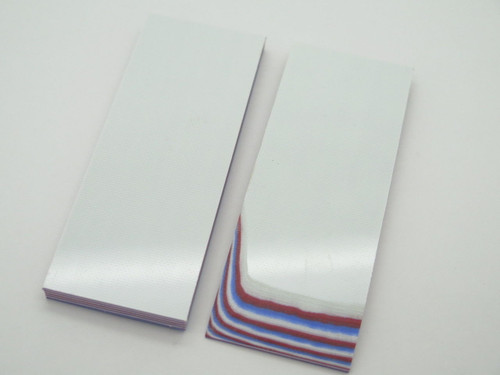 2 pcs G10 1/4 RED WHITE BLUE SCALE SLAB KNIFE MAKING HANDLE MATERIAL BLANK