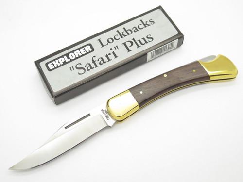 EXPLORER 11-305 SEKI JAPAN FOLDING HUNTER LOCKBACK KNIFE in BUCK 110 STYLE