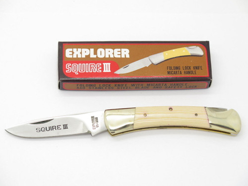 GUTMANN EXPLORER 11-393 SEKI JAPAN SQUIRE III MICARTA POCKET KNIFE PARKER