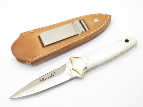 NATIONAL BLADE PARKER ASSASSIN AUS-6A FIXED DAGGER BOOT KNIFE SEKI JAPAN NOS