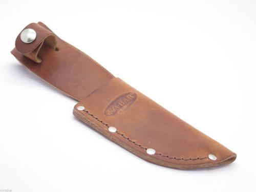 "KA-BAR 1234 LEATHER 3.5"" FIXED BLADE HUNTING KNIFE SHEATH CASE BUCK 919"