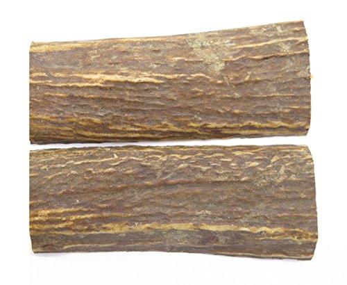 """Elk Stag 5"""" x 1.75"""" Knife Making Blank Handle Grip Scale Slab Pair Set"""