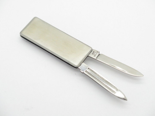 NOS PARKER FROST SEKI JAPAN STAINLESS MONEY CLIP FOLDING POCKET KNIFE