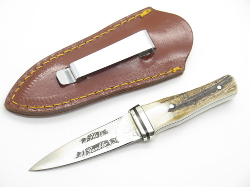 PARKER FROST THE GAMBLER SMALL STAG FIXED DAGGER BOOT KNIFE SEKI JAPAN NOS