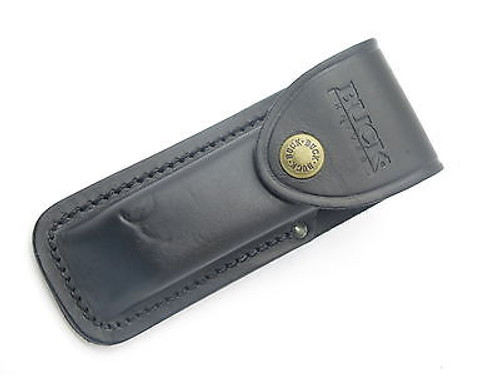 BUCK 111 CLASSIC 110 FOLDING HUNTER BLACK LEATHER FOLDING KNIFE SHEATH