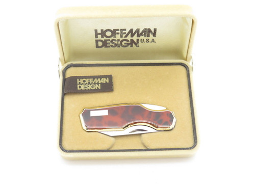 VTG HOFFMAN 88L KAWAKAMI SEKI JAPAN GENTLEMAN FOLDING POCKET KNIFE RED in BOX