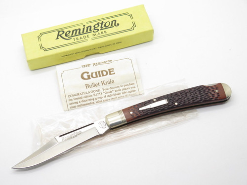 1992 REMINGTON UMC USA R1253 BULLET TRAPPER LOCKBACK FOLDING POCKET KNIFE