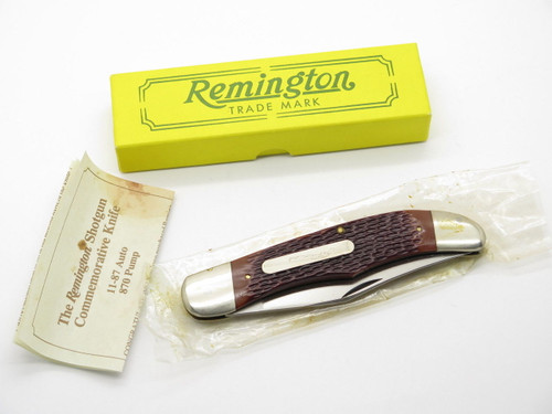 1990 REMINGTON UMC USA R870 870 SHOTGUN CREST FOLDING HUNTER KNIFE