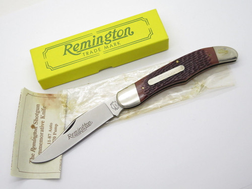 1990 REMINGTON UMC USA R870 870 SHOTGUN CREST FOLDING HUNTER KNIFE