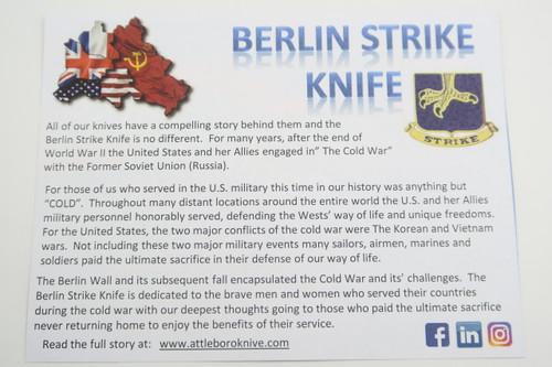 ATTLEBORO USA BERLIN STRIKE D2 BLADE TITANIUM FRAMELOCK FOLDING POCKET KNIFE