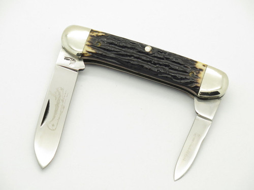 VTG 1973-1975 QUEEN CUTLERY #64 CANOE 2 BLADE FOLDING POCKET KNIFE