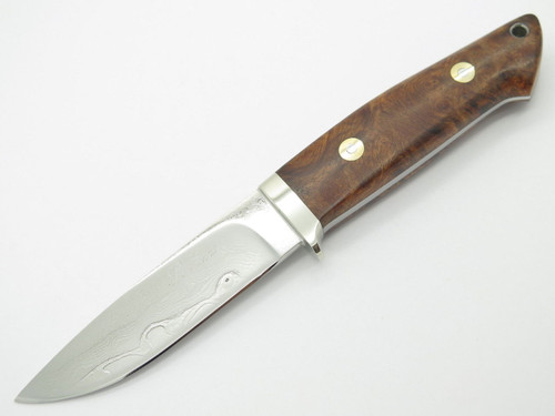 SEIZO IMAI SEKI CUSTOM LOVELESS LARGE WOOD HANDLE DROP POINT VG-10 DAMASCUS FIXED KNIFE