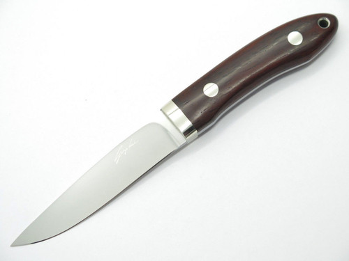 SEIZO IMAI SEKI CUSTOM LOVELESS LARGE CAPER ATS-34 & WOOD FIXED BLADE KNIFE