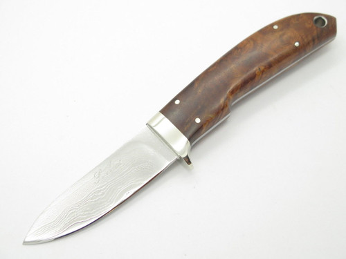 SEIZO IMAI SEKI CUSTOM LOVELESS SKINNER WOOD VG-10 DAMASCUS FIXED KNIFE