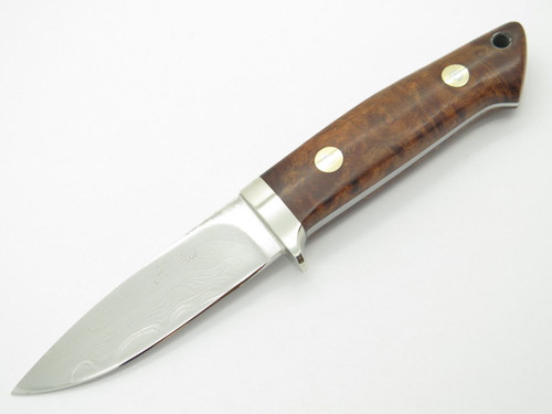 SEIZO IMAI SEKI CUSTOM LOVELESS SMALL DROP POINT VG-10 DAMASCUS FIXED KNIFE