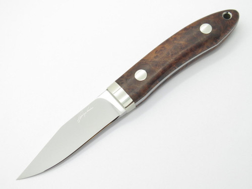 SEIZO IMAI SEKI CUSTOM LOVELESS CLIP POINT ATS-34 & WOOD FIXED BLADE KNIFE
