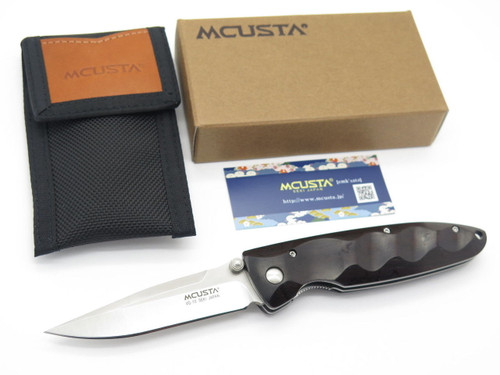 MCUSTA SEKI JAPAN BASIC MC-0023 EBONY & VG-10 LINERLOCK FOLDING POCKET KNIFE