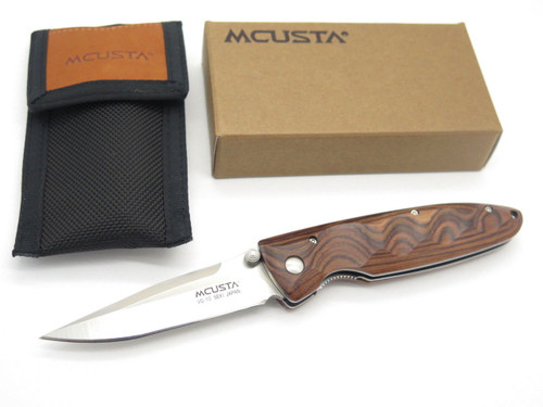 MCUSTA SEKI JAPAN BASIC MC-0024R ROSEWOOD & VG-10 LINERLOCK FOLDING POCKET KNIFE