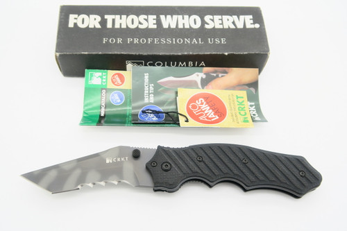 CRKT TAIWAN 1030TS TRIUMPH CRAWFORD STRIPED TANTO TACTICAL FOLDING POCKET KNIFE