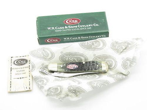 2002 CASE XX 61953 RUSSLOCK FOLDING POCKET KNIFE FLAG & BLACK JIGGED BONE
