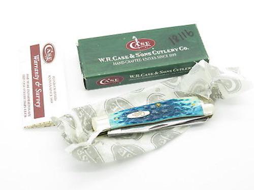2004 CASE XX 6254 TRAPPER FOLDING POCKET KNIFE CARIBBEAN BLUE BONE