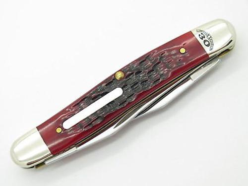 2014 CASE XX MUSKRAT FOLDING POCKET KNIFE LIMITED PEARL MOP RED BONE