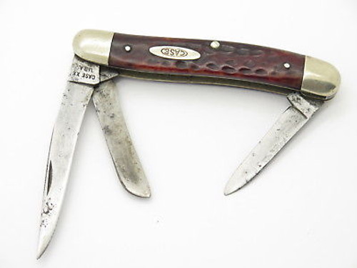 VTG 1965-1969 CASE XX 6318 STOCKMAN BONE FOLDING POCKET KNIFE USED