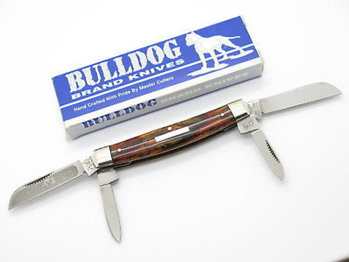 VINTAGE 1995 BULLDOG BRAND PIT BULL PROTOTYPE CONGRESS FOLDING POCKET KNIFE