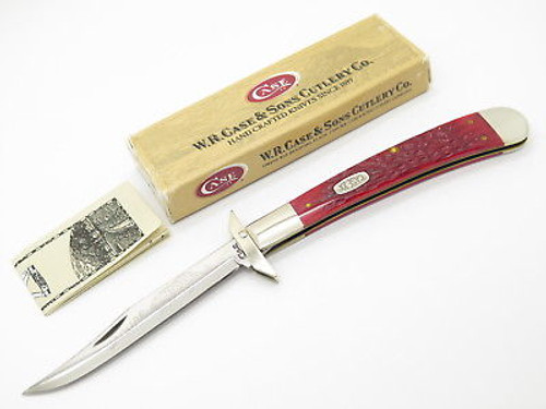 '97 CASE 6151 RED BONE JAGUAR SWING GUARD BANANA TRAPPER FOLDING KNIFE
