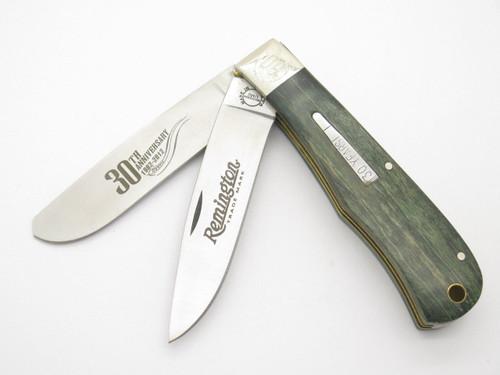 '12 REMINGTON UMC USA R1128 TRAPPER BULLET FOLDING HUNTER KNIFE 30th LIMITED TIN