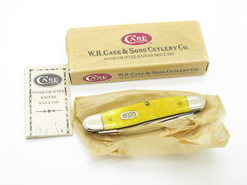 2000 CASE XX MUSKRAT FOLDING POCKET KNIFE 02635 JIGGED YELLOW BONE