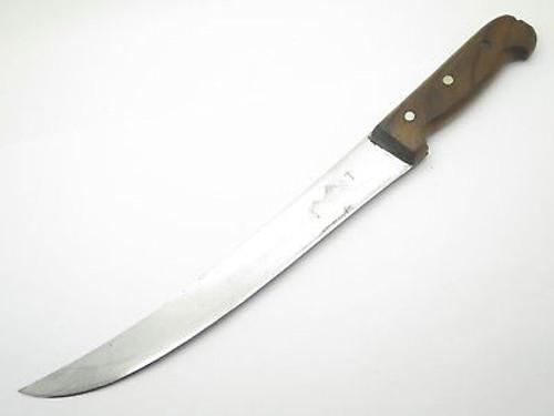 "SHARP VICTORINOX FORSCHNER 403 CIMETAR BUTCHER 11"" SLICER CUTLERY KNIFE"