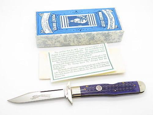 CASE CLASSIC XX 61011 1/2 CHEETAH PURPLE SWING GUARD FOLDING KNIFE BULLET