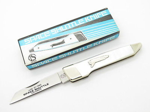 VINTAGE '82 TS PARKER SEKI JAPAN COLUMBIA SPACE SHUTTLE PEARL FOLDING KNIFE