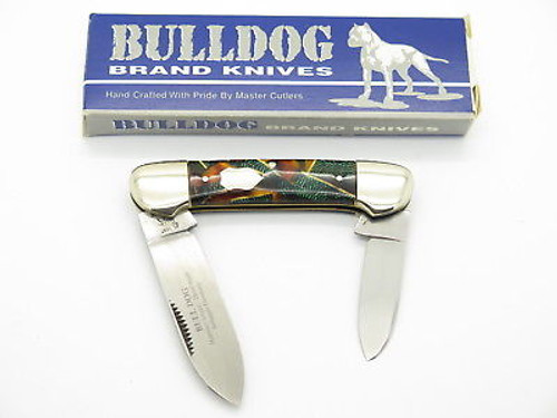VINTAGE 1997 BULLDOG BRAND SOLINGEN CANOE FOLDING POCKET KNIFE CELLULOID