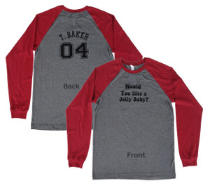 Doctor Who Inspired 4th Doctor Double-sided Baseball Jersey