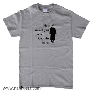 Doctor Who Inspired T-Shirt: Like a little Captain in ya?