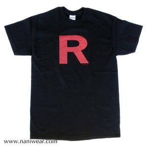 Pocket Monsters Inspired T-Shirt: Team R Black
