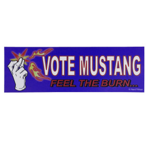 Fullmetal Alchemist Bumper Sticker: Vote Mustang Feel the Burn