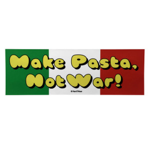 Hetalia Inspired Bumper Sticker: Make Pasta Not War