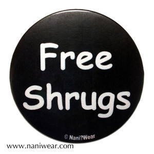 Convention Button: Free Shrugs