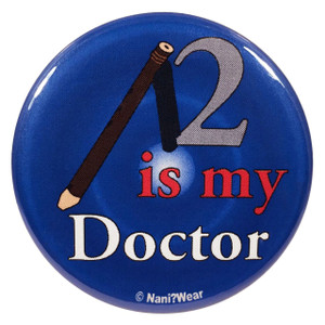 Doctor Who Button: 2 is My Doctor