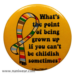 Doctor Who Inspired Button: Point of Being Grown Up