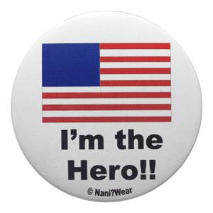 Hetalia Inspired Button: America, I'm the Hero