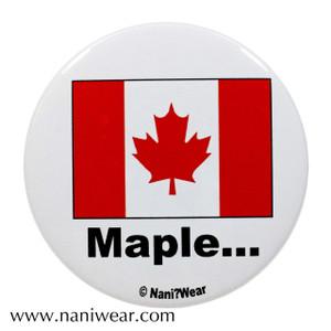 Hetalia Inspired Button: Canada, Maple...