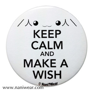Madoka Magica Inspired Button: Keep Calm & Make a Wish